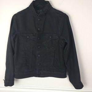 Levi's Black Denim Commuter Jacket with Snaps L